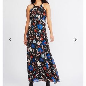 A Pea in the Pod Halter Maxi Floral Dress ❤️🖤💙💗